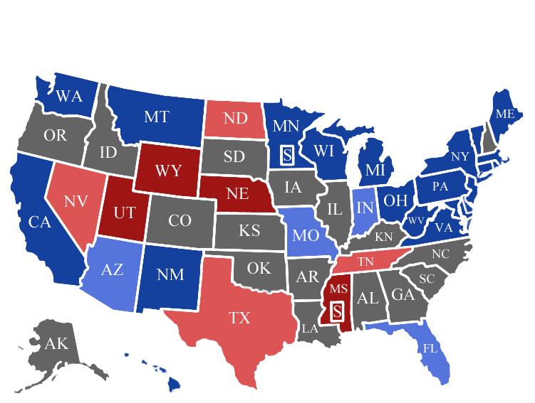 Carter Hanson's Official Election Predictions #1 – The Senate