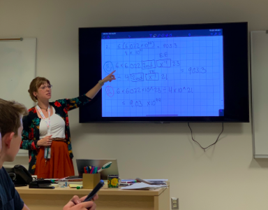 Maxine Morris, The Science Department's Newest IB Chem Teacher