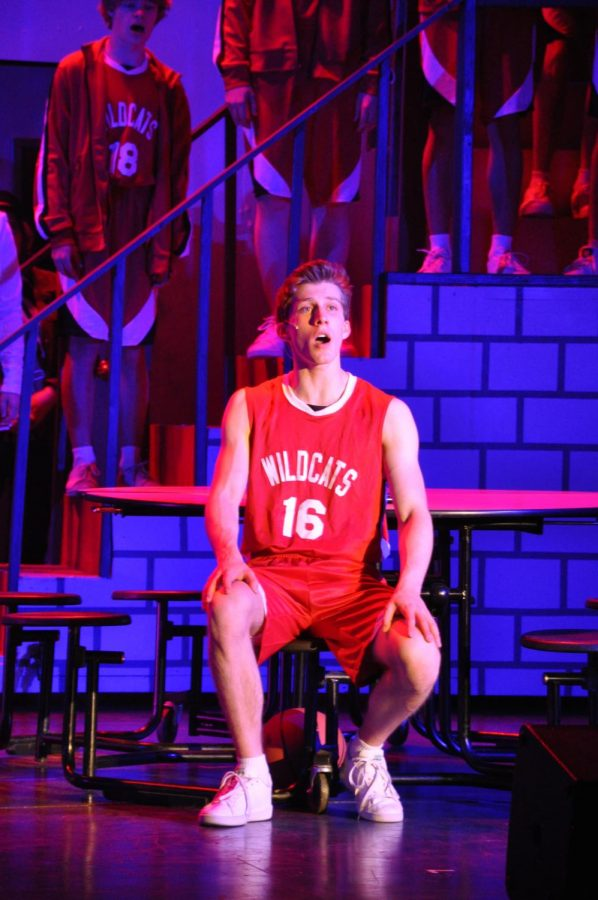 Junior Quinn Hershland, who plays Troy Bolton, sings a solo.