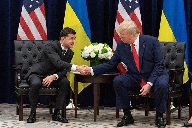 Trump+and+Volodymyr+Zelensky+