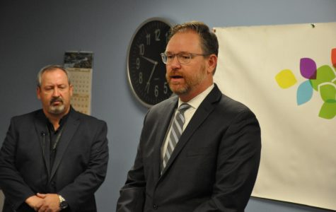 Superintendent Rob Anderson spoke at a press conference this morning alongside representatives of Boulder Public Health