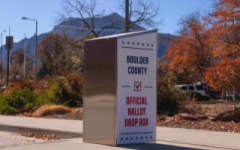 A ballot drop box in Boulder. Photo taken November 2nd.