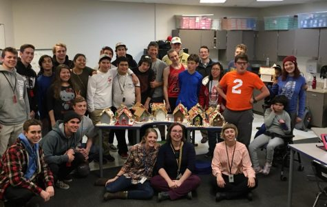 Photo Essay: Pi Kappa Phi and Fairview Students Decorate Gingerbread Houses