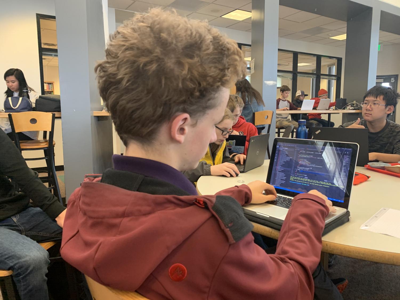 Edward focused on coding