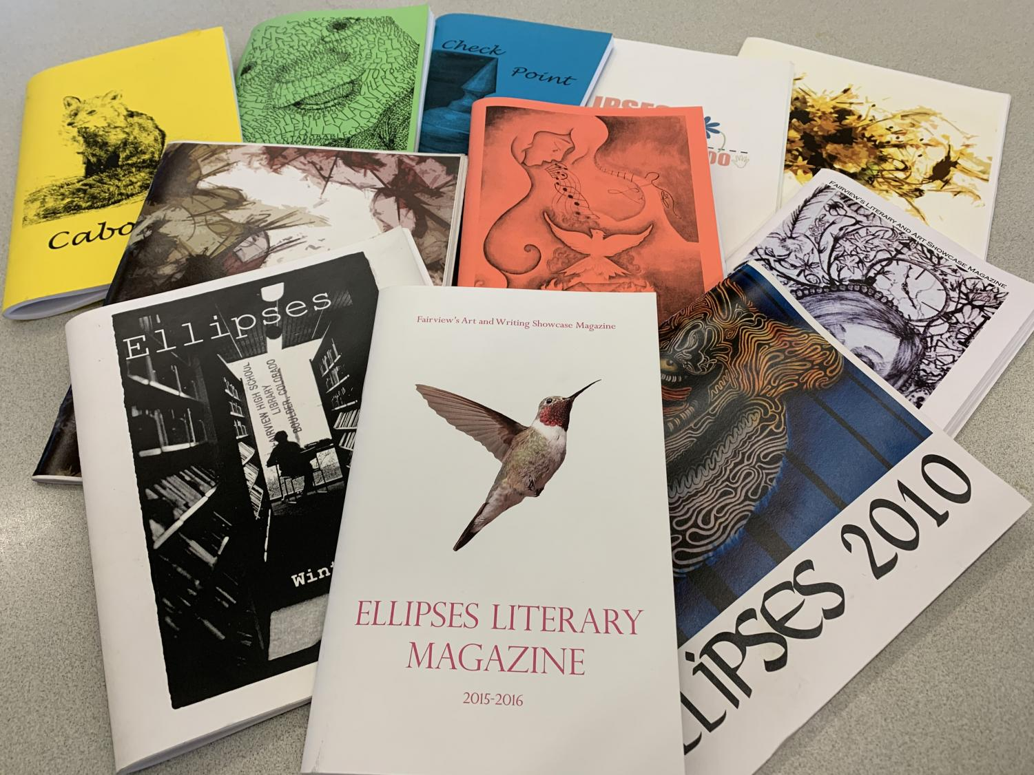 Various Copies of the Ellipses Literary Magazine