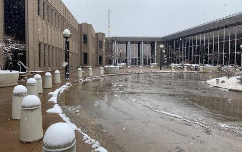 The front entrance to the 20th Judicial District Courthouse.