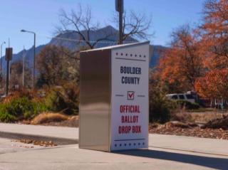 A ballot drop box in Boulder. Photo taken November 2nd.