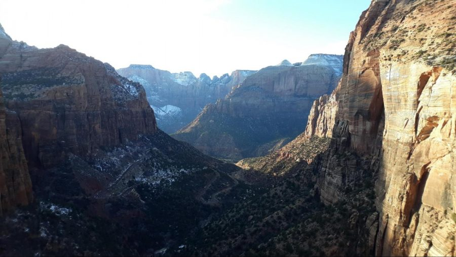 The Canyon Overlook in Winter.