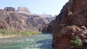Looking up the canyon from the Silver Bridge.