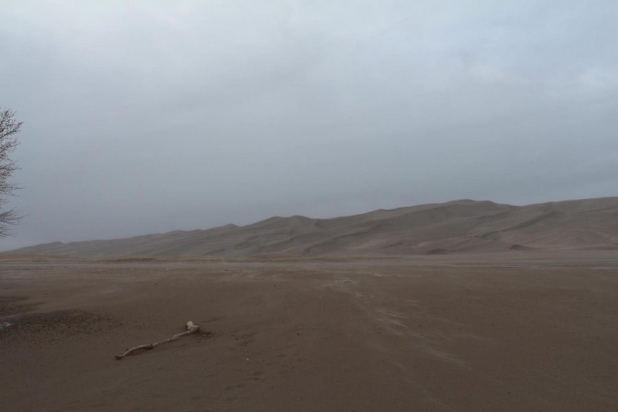 The Great Sand Dunes during winter.